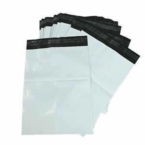 25 1000 Multi pack 24x24 White Poly Mailers Shipping Envelopes Self Sealing Bags