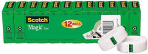 Scotch Magic Tape 12 Rolls Numerous Applications Invisible Engineered For X