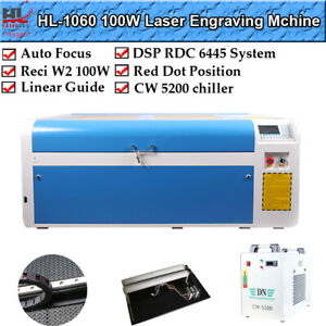 100w 1060 Ruida Dsp Co2 Laser Cutting Engraver Machine Auto Focus Reci Us Stock
