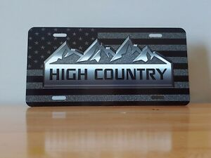 Chevy High Country License Plate Custom Car Tag Personalized License Plate