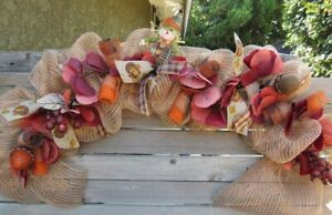 Fall Garland Fall Turkey Table Decor Thanksgiving Scarecrow Table Centerpiece
