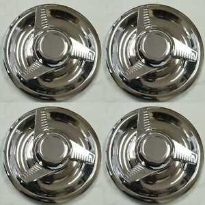 4pcs Chevy Gm Rally Wheel Center Hub Caps 3 Tri Bar Sleek Cap Cover Rings