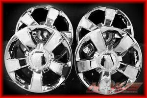 New 20 2014 Chevy Silverado Tahoe Ltz Gmc Sierra Yukon Denali Chrome Wheels 22