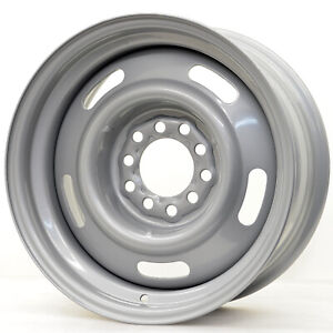 Hot Rod Hanks 55 Rally 15x6 5x114 3 5x120 65 Offset 6 Silver With Cap qty Of 4
