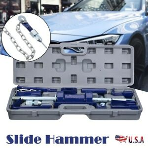 Slide Hammer Dent Puller 13lbs Auto Body Dent Repair Bearing Axel Removal Kit 18