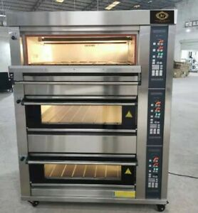 Deck Oven Gas Fired With Steam Injection Stone Brand New