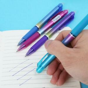 0 5mm Rainbow Color Erasable Press Gel Pen With Blue Refills Office Stationery