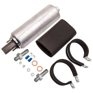 High Flow Pressure Fuel Pump Gsl392 External Inline 255lph 3 8 Fitting Mount Kit