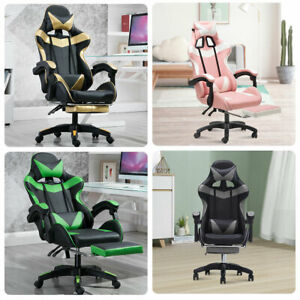 Ergonomic Chair Gaming Racing W footrest Computer High Back Office recliner Seat