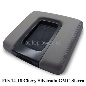Fits 14 19 Chevy Silverado Gmc Sierra Oem Center Console Armrest Lid Cover Gray