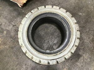 Magnum Solideal 28x9 15 Tires Non marking Solid Fork lift Tire 7 00 15 Rim T208