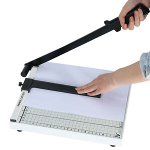 12 Sheets 12 Heavy Duty Paper Cutter A4 B5 A5 B6 B7 Guillotine Page Trimmer Usa