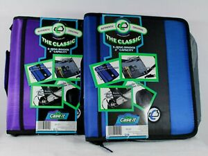 Case it The Classic 3 Ring Binder 2 Capacity Shoulder Strap School New