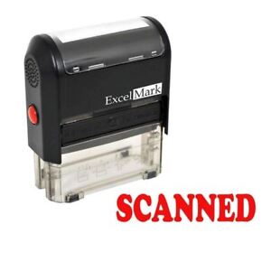 Excelmark Scanned Self Inking Rubber Stamp A1539 Red Ink