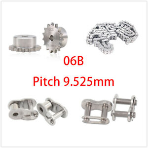 Stainless Steel 10 30 Tooth 06b Chain Drive Sprocket Roller Chain Chain Links