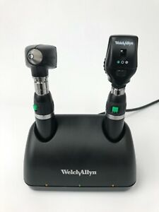 Welch Allyn Instrument Set W Otoscope Ophthalmoscope Head Handpiece Charger