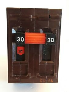 Wadsworth 30 Amp Double Pole 2p 30a Circuit Breaker Metal Feet Tested