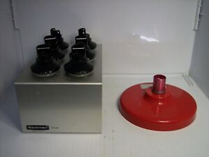 Beckman Coulter Centrifuge Buckets 100 9 Tubes Rack 331186 With Red Lid