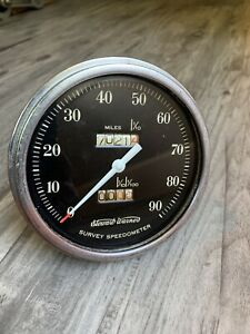 Vintage Stewart Warner 90 Mph Speedometer Gauge Scta Hot Rod Dash Panel Sw