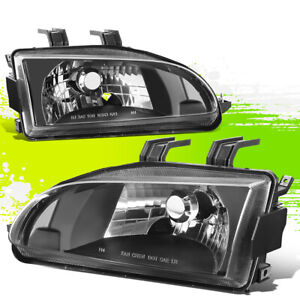 Oe Style Black Clear Headlight Lamps Left right Side Lh Rh For Honda Civic 92 95