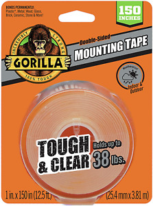 Gorilla Tough Clear Double Sided Xl Mounting Tape 1 X 150 Clear Pack Of 1
