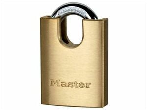 Master Lock Solid Brass 40mm Padlock 5 pin Shrouded Shackle