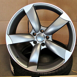 Audi S4 Style 18x8 5x112 Et35 Gunmetal Machined Face Wheels Set Of 4 Rims