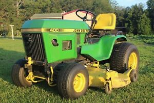 John Deere 400 Tractor With A 60 Mower And 3 Point Hitch Engine Honda Gx 690