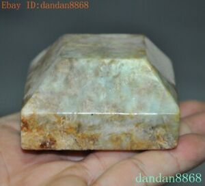 China Chinese Dynasty Hetian Old Jade Hand Carved Seal Stamp Signet Statue