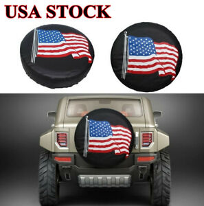 14 Spare Tire Cover Black Usa Flag Tyre Wheel Protect For Auto Jeep Liberty Crv