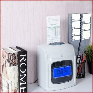 Machine Electronic Time Lcd Display Recorder Card Clock Punch X Employee