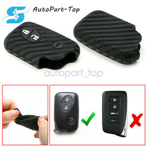 Carbon Fiber Style Soft Silicone Key Fob Cover For Lexus Is Es Gs Lx Ls Ct Gx Rx