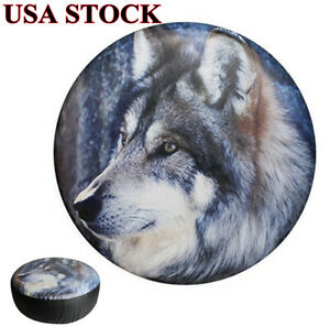 14 Spare Tire Cover Wolf Tyre Wheel Protect Waterproof For Car Jeep Liberty Crv