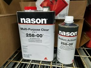 Nason 2k Clear Coat Multi Purpose 258 00 1gal With Activator 1qt
