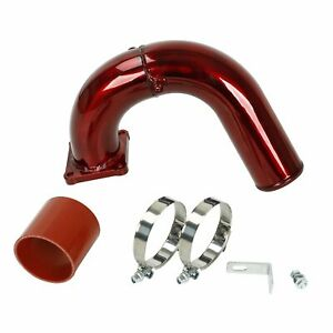 High Flow Intake Elbow Tube Red Fits For 03 07 Dodge Ram 5 9l Cummins Diesel