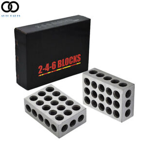 Ultra Precision 2 4 6 Blocks 23 Holes Matched Pair 0006 Machinist 246 Jig