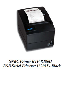 New Snbc Printer Btp r180ii Usb Serial Ethernet 132085 Black