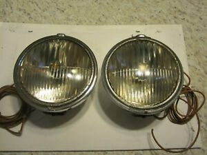 Trippe Headlights One Pair Vintage