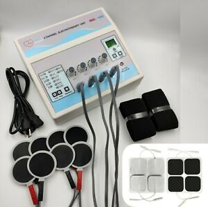 New Pro Electrotherapy 4 Channel Electronic Physical Pain Relief Therapy Machine