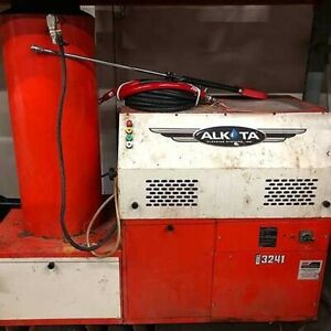 Used Alkota 3241ng 1ph natural Gas 3gpm 2400psi Hot Water Pressure Washer