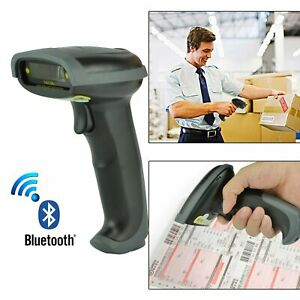 Wireless Bluetooth Laser Barcode Scanner Reader Gun Handheld Scan For Pos