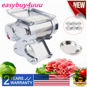 5th Gen Commercial Electric Meat Slicer Slice Cutter Meat Cutting Machine 110v