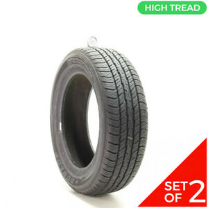 Set Of 2 Used 215 60r17 Dunlop Signature Ii 96t 9 5 10 32