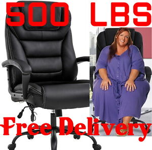 500 Lb Big And Tall Heavy Duty High Back Ergonomic Executive Leather Chair Wide