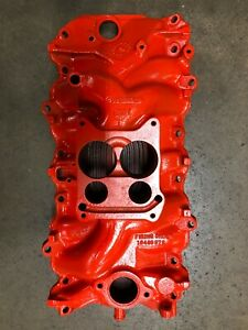 Intake Manifold Chevy Bbc 454 Big Block Chevrolet Cast Iron Gm 8883948 Q Jet