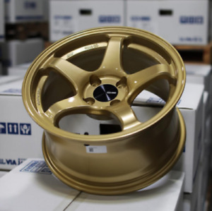 One Enkei Pf05 15x8 25 4x100mm Lightweight Track Racing Wheel 25mm Offset Gold
