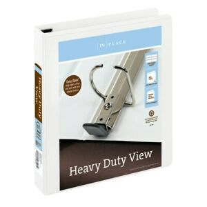 Office Depot Brand Heavy duty View 3 ring Binder 1 1 2 D rings White