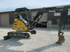 2017 John Deere 35g Excavator Runs And Operates Great Low Hours Long Stick