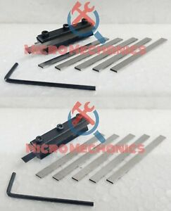 Mini Lathe Clamp Type Parting Cut Off Tool Holder Combo 6mm 8mm With 12 Blades