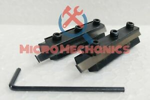 Mini Lathe Clamp Type Parting Cut Off Tool Holder Combo 6mm 8mm Shank Blades